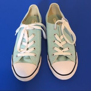 Turquoise Low Top Converse